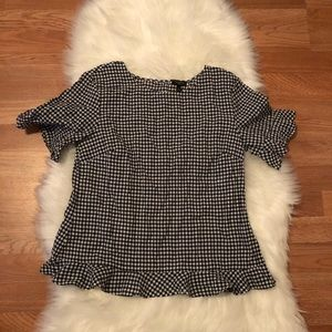 Talbots checkered Small petite top